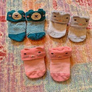 Carter's 3 pk Critter Socks